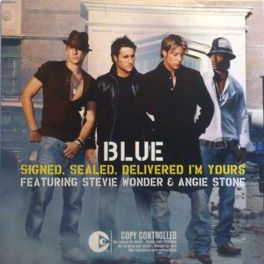 Coverafbeelding Signed, Sealed, Delivered I'm Yours - Blue Featuring Stevie Wonder & Angie Stone
