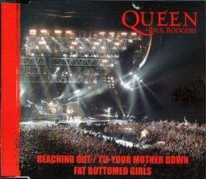 Coverafbeelding Reaching Out/tie Your Mother Down - Queen + Paul Rodgers