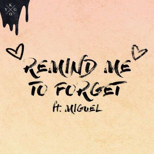 Coverafbeelding Remind Me To Forget - Kygo Ft. Miguel