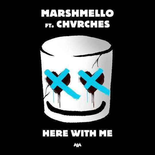 Coverafbeelding Here With Me - Marshmello Ft. Chvrches