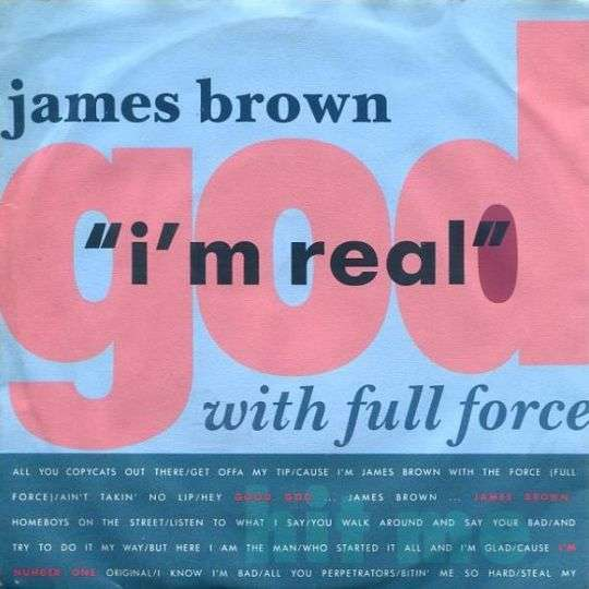 Coverafbeelding I'm Real - James Brown With Full Force