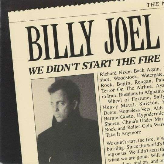 Coverafbeelding We Didn't Start The Fire - Billy Joel