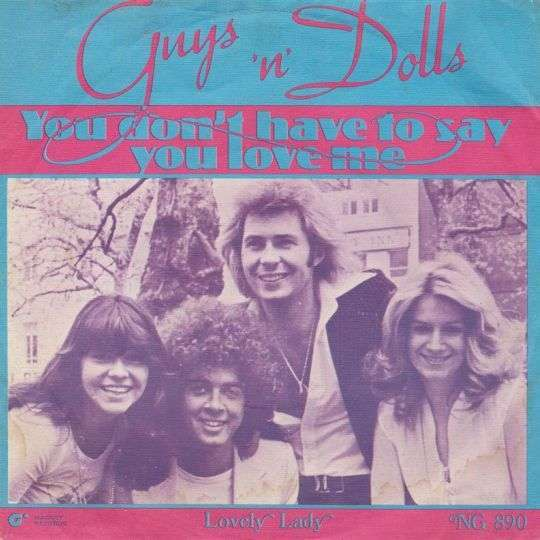 Coverafbeelding Guys 'n' Dolls - You Don't Have To Say You Love Me
