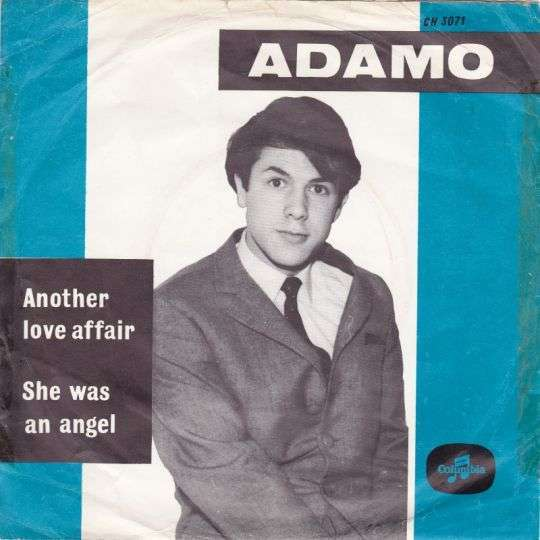Coverafbeelding She Was An Angel/ Another Love Affair - Adamo