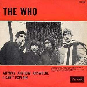 Coverafbeelding Anyway, Anyhow, Anywhere - The Who