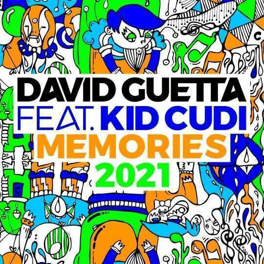 Coverafbeelding David Guetta feat. Kid Cudi - Memories 2021