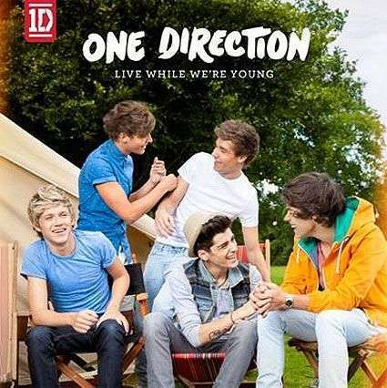 Coverafbeelding Live While We're Young - One Direction