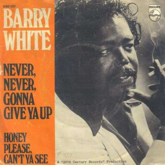 Coverafbeelding Never, Never, Gonna Give Ya Up - Barry White