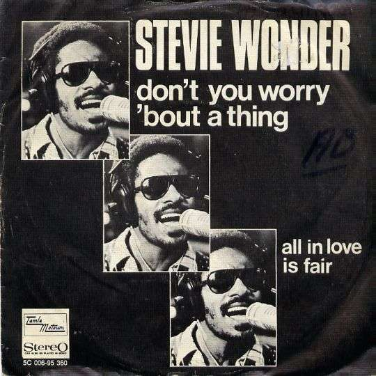 Coverafbeelding Don't You Worry 'bout A Thing - Stevie Wonder