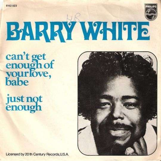 Coverafbeelding Can't Get Enough Of Your Love, Babe - Barry White